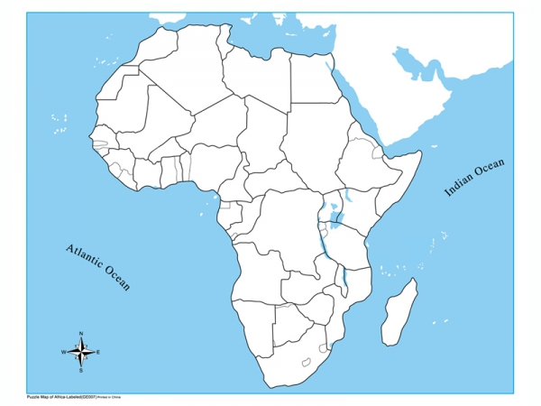 africa map unlabeled